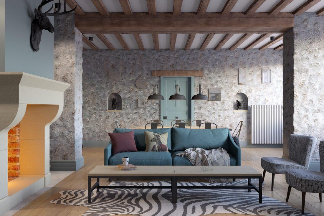 salon cheminée architecte interieur